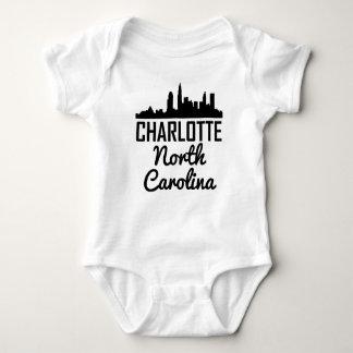 Charlotte North Carolina Skyline Baby Bodysuit