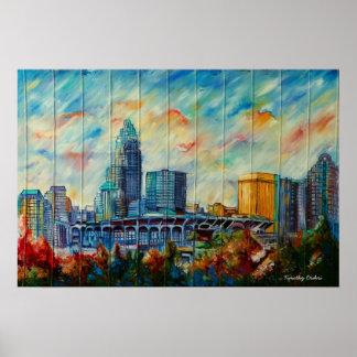 Charlotte, North Carolina Skyline Canvas Print