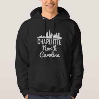 Charlotte North Carolina Skyline Hoodie