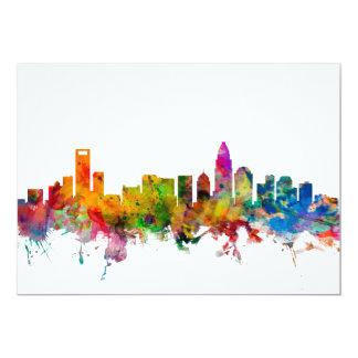 Charlotte North Carolina Skyline 13 Cm X 18 Cm Invitation Card