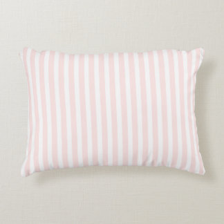 Charlotte Pink and White Stripes Baby Pink Decorative Cushion