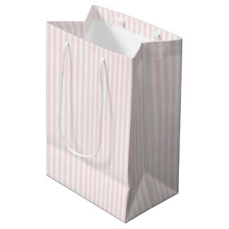 Charlotte Pink and White Stripes Baby Pink Medium Gift Bag