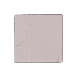 Charlotte Pink-Baby Princess Pink-Square Quilted Stone Magnet