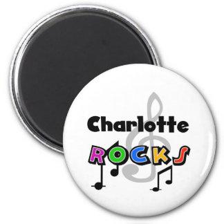 Charlotte Rocks 6 Cm Round Magnet