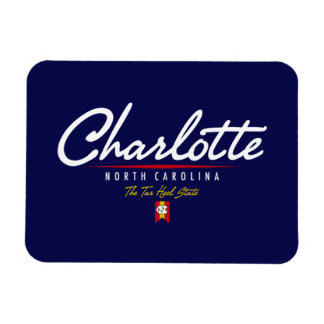 Charlotte Script Rectangular Photo Magnet