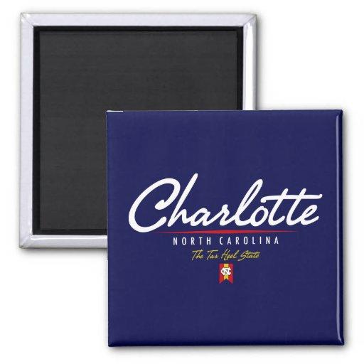 Charlotte Script Fridge Magnet