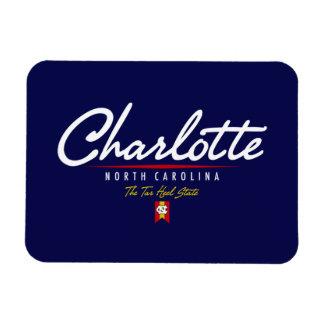 Charlotte Script Vinyl Magnets