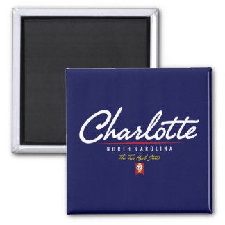 Charlotte Script Square Magnet