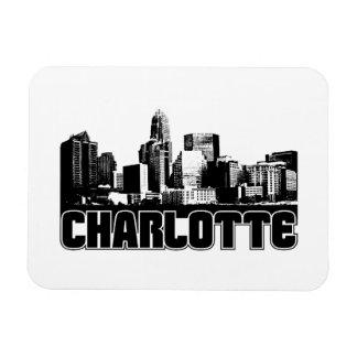 Charlotte Skyline Rectangular Photo Magnet