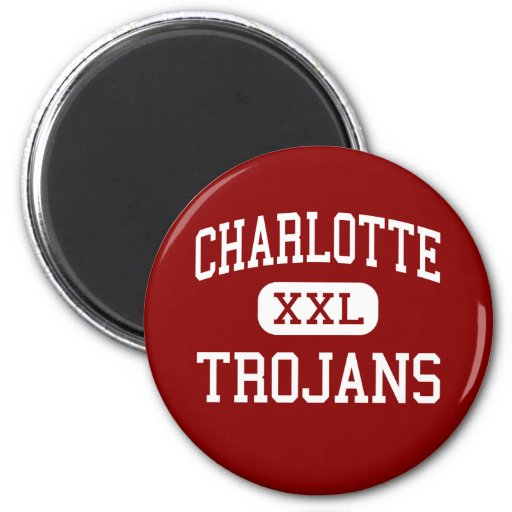 Charlotte - Trojans - Middle - Charlotte Texas Refrigerator Magnets