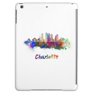 Charlotte V2 skyline in watercolor