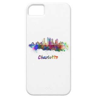 Charlotte V2 skyline in watercolor Barely There iPhone 5 Case