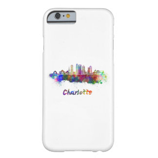 Charlotte V2 skyline in watercolor Barely There iPhone 6 Case
