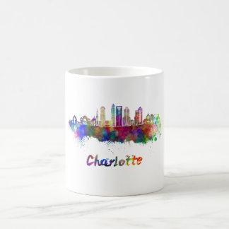 Charlotte V2 skyline in watercolor Coffee Mug