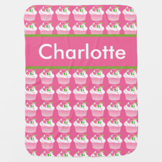 Charlotte's Personalized Cupcake Blanket