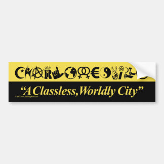 Charlottesville: A Classless, Worldly City Bumper Sticker