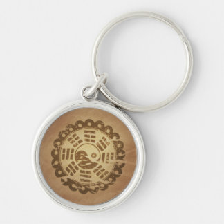 Charm Against Evil Forces Chinese Magic Charms Silver-Colored Round Key Ring