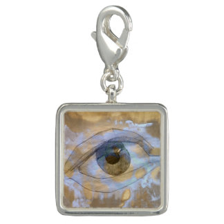 Charm eye blended with light blue cream texture