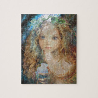 Charm - Fairy Angel with Fairy Dust Blessings Jigsaw Puzzle