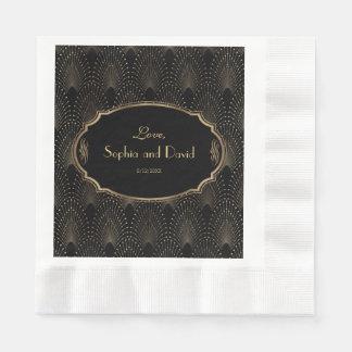 Charm Great Gatsby Vintage 1920s Art Deco Wedding Disposable Napkin
