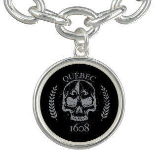 Charm plated money Quebec biker skull 1608