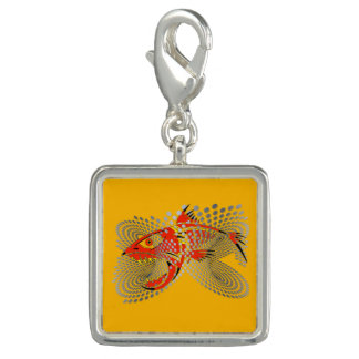 Charm with a modern design angry fish