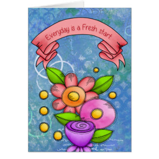 Charmed Positive Thought Doodle Flower Note Card