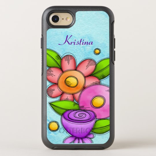 Charmed Watercolor Doodle Flower iPhone OtterBox