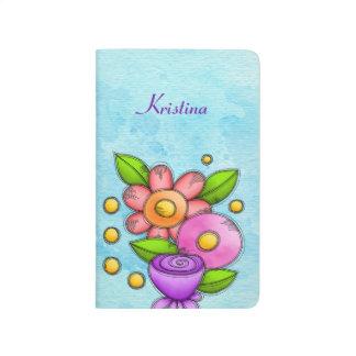 Charmed Watercolor Doodle Flower Journal