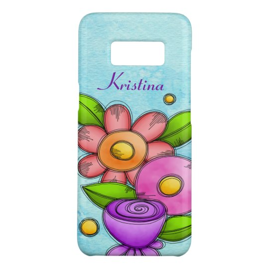 Charmed Watercolor Doodle Flower Samsung Case