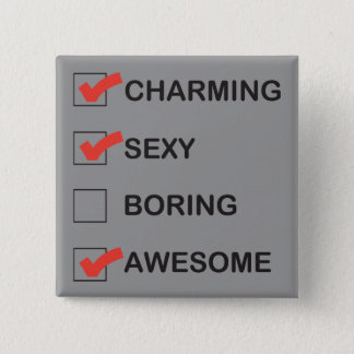 Charming 15 Cm Square Badge