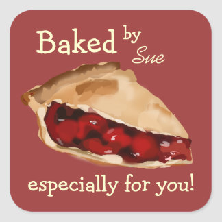 """Charming """"Baked by YOU"""" custom stickers"""