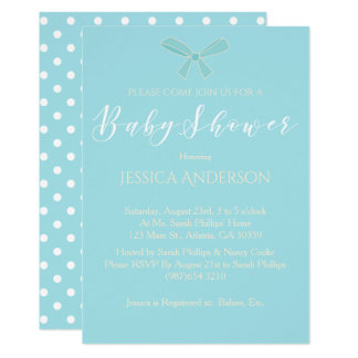Charming Blue Boys Baby Shower Card