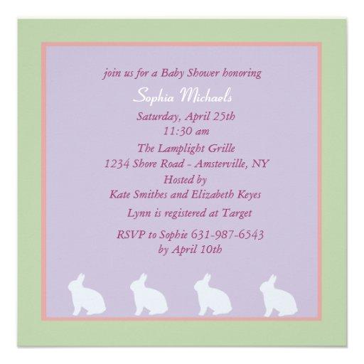Charming Bunnies Baby Shower Invitation