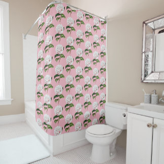 Charming Camellia Floral Shower Curtain