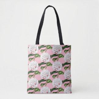 Charming Camellia Floral Tote Bag