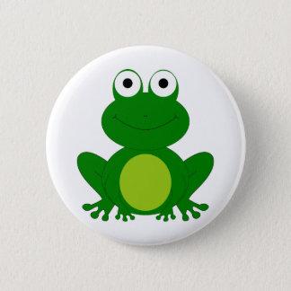 Charming cartoon frog 6 cm round badge
