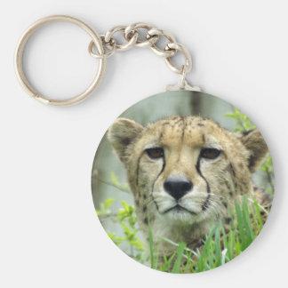 Charming Cheetah Key Ring Basic Round Button Key Ring
