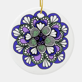 Charming Christmas Ornament with Illustration