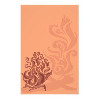 Charming Copper Bonfire Stationery