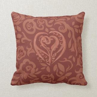 Charming Copper Dark Pillow