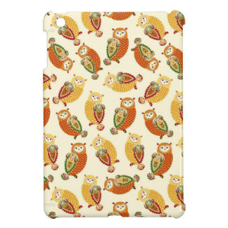 Charming, Cute owls in autumn colors iPad Mini Cases
