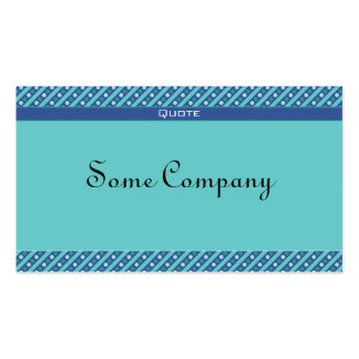 Charming Dots And Stripes (Ocean View) Business Cards