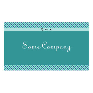 Charming Dots And Stripes (Ocean View) Business Card Template