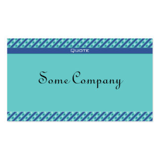 Charming Dots And Stripes (Ocean View) Business Card Templates