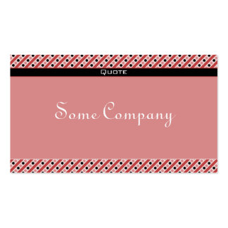 Charming Dots And Stripes (Strawberries) Business Card Template
