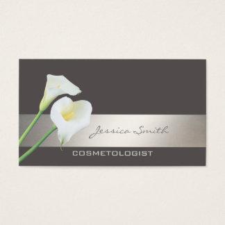 Charming elegant chic luxury romantic calla lily business card