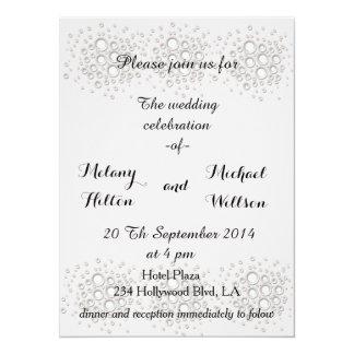 Charming elegant chic white confetti wedding 14 cm x 19 cm invitation card