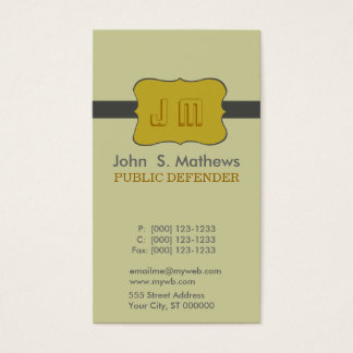 Charming Emblem Motive Logo Design Business Card