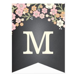 Charming Garden Floral Flag DIY Bunting Banner Postcard